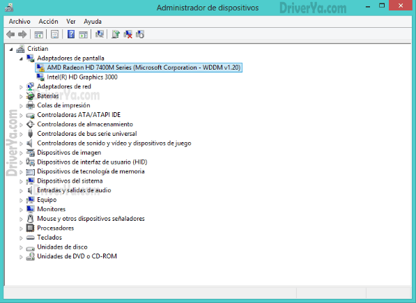 cómo instalar u driver en windows 8 8.1