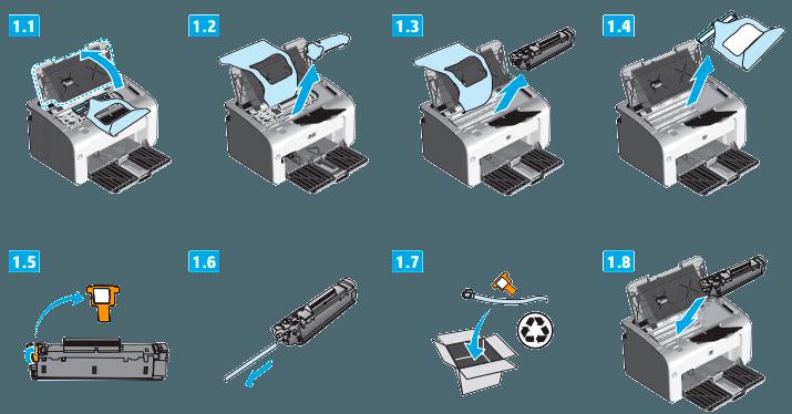 instalar hp p1102w